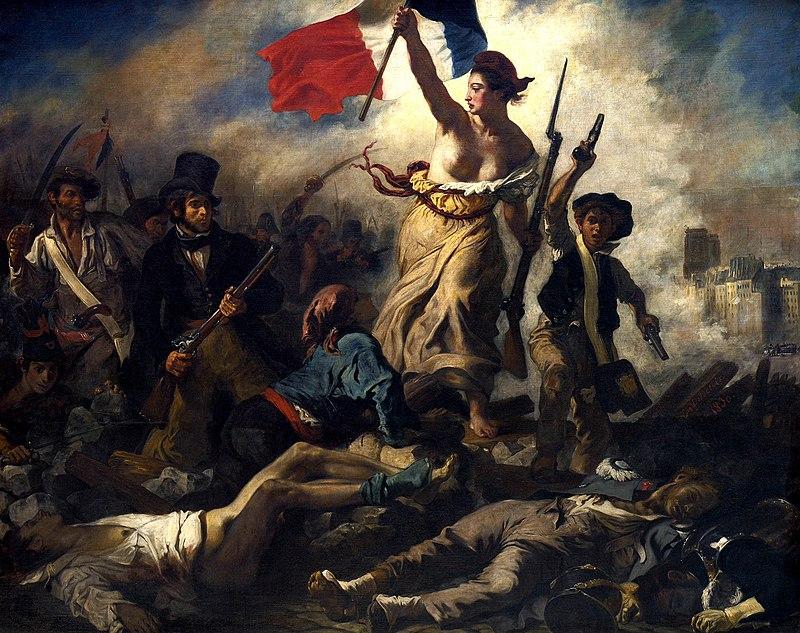 A Liberdade guiando o povo, de Eugène Delacroix (1830)